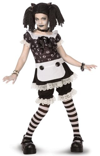 medium girls halloween costumes gothic rag doll child tween costume size medium 8