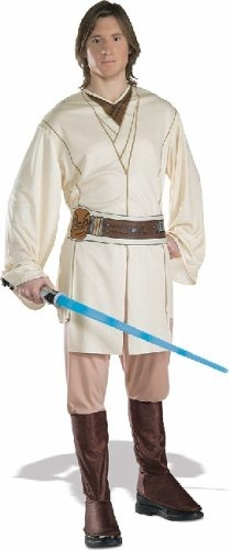 men halloween costumes star wars obiwan kenobi adult costume size standard one